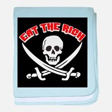 Jolly Roger: Eat The Rich! baby blanket