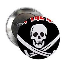 """Jolly Roger: Eat The Rich! 2.25"""" Button"""