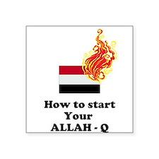 """ALLAH - Q Square Sticker 3"""" x 3"""""""