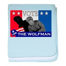Vote for the Wolfman! baby blanket