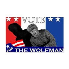Vote for the Wolfman! Wall Decal
