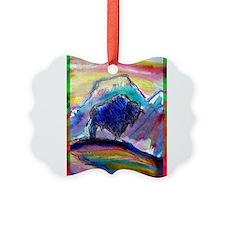 Buffalo, colorful, art! Ornament