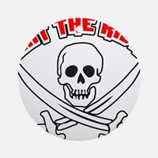 Jolly Roger: Eat The Rich! Ornament (Round)