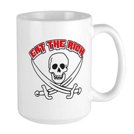 Jolly Roger: Eat The Rich! Large Mug