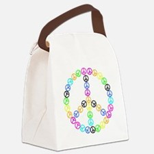 Peace Signs Canvas Lunch Bag