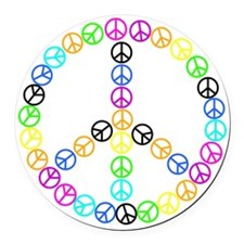 Peace Signs Round Car Magnet