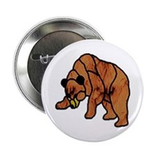 SHADOW BEAR LT MOSAIC STAINED Button