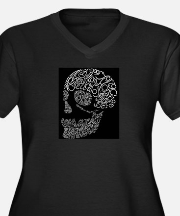 Poor Yorick's Skull: Negative Women's Plus Size V-