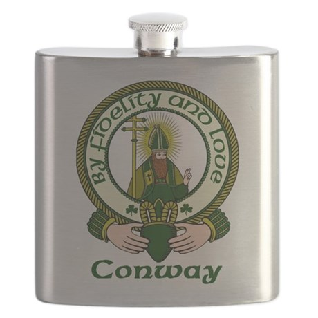 Conway Clan Motto Flask