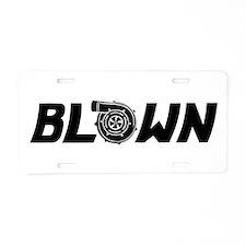 Blown Aluminum License Plate