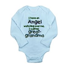 I HAVE AN ANGELGREAT.png Long Sleeve Infant Bodysu
