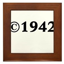 1942 Framed Tile
