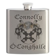 Connolly in Irish/English Flask