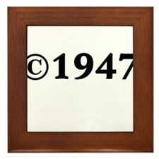 1947 Framed Tile