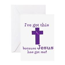 Purple Jesus Has Got Me Greeting Card