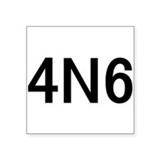 "4N6 Square Sticker 3"" x 3"""