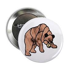 LT BROWN BEAR MOSAIC Button