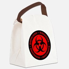 Red & Black Biohazard Warning Canvas Lunch Bag