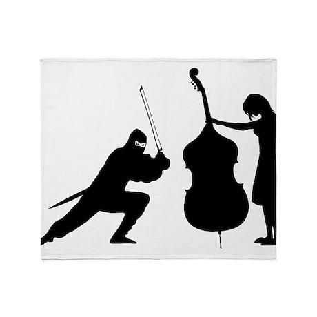 Double Bass Ninja Throw Blanket