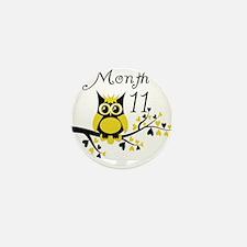 Tree Owl Milestone Month 11 Mini Button