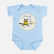 Tree Owl Milestone Month 11 Infant Bodysuit