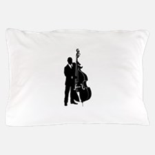 Double Bass Player Pillow Case