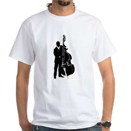 Double Bass Player White T-Shirt
