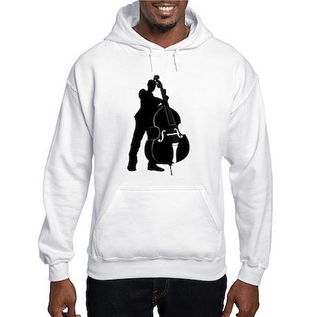 Double Bass Player Hooded Sweatshirt