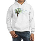 Blue flowers Hooded Sweatshirt