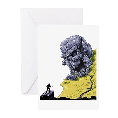 Disc Golf SKULL CAVE Greeting Cards (Pk of 10)