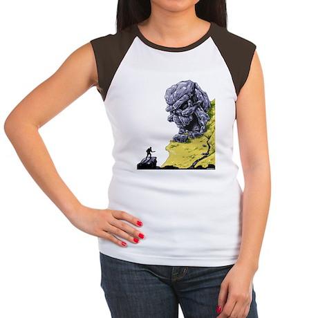 Disc Golf SKULL CAVE Women's Cap Sleeve T-Shirt