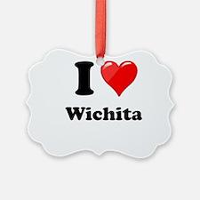 I Heart love Wichita.png Ornament