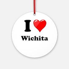 I Heart love Wichita.png Ornament (Round)