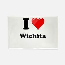 I Heart love Wichita.png Rectangle Magnet