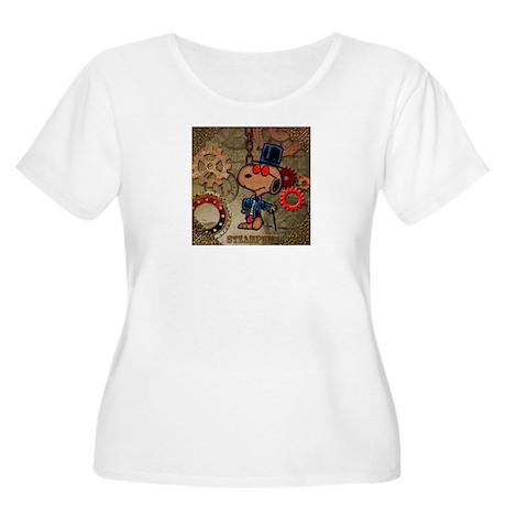Steampunk Snoopy Women's Plus Size Scoop Neck T-Sh