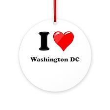 I Heart Love Washington DC.png Ornament (Round)