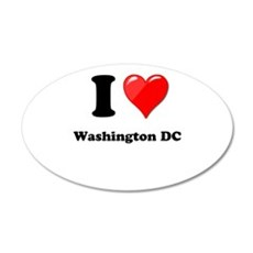 I Heart Love Washington DC.png Wall Decal
