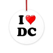 I Heart Love Washington DC - DC.png Ornament (Roun