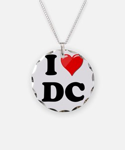 I Heart Love Washington DC - DC.png Necklace