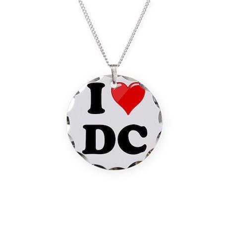 I Heart Love Washington DC - DC.png Necklace Circl