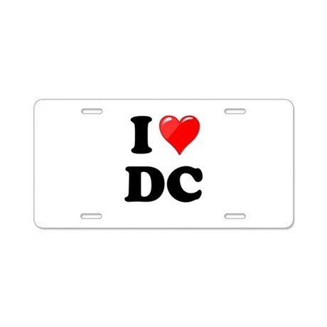 I Heart Love Washington DC - DC.png Aluminum Licen