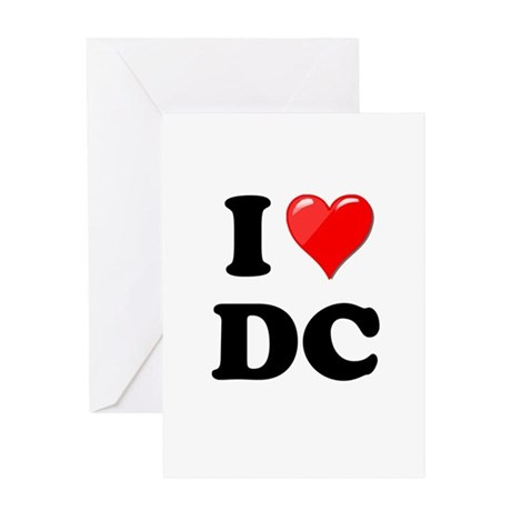 I Heart Love Washington DC - DC.png Greeting Card