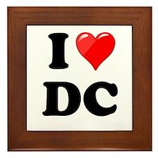 I Heart Love Washington DC - DC.png Framed Tile