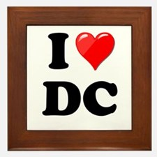 I Heart Love Washington DC - DC.png Framed Tile