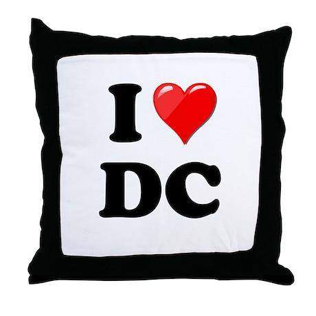 I Heart Love Washington DC - DC.png Throw Pillow