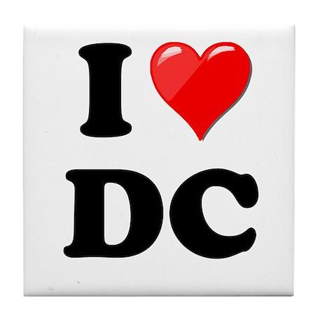 I Heart Love Washington DC - DC.png Tile Coaster