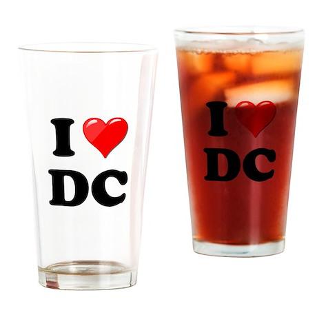 I Heart Love Washington DC - DC.png Drinking Glass