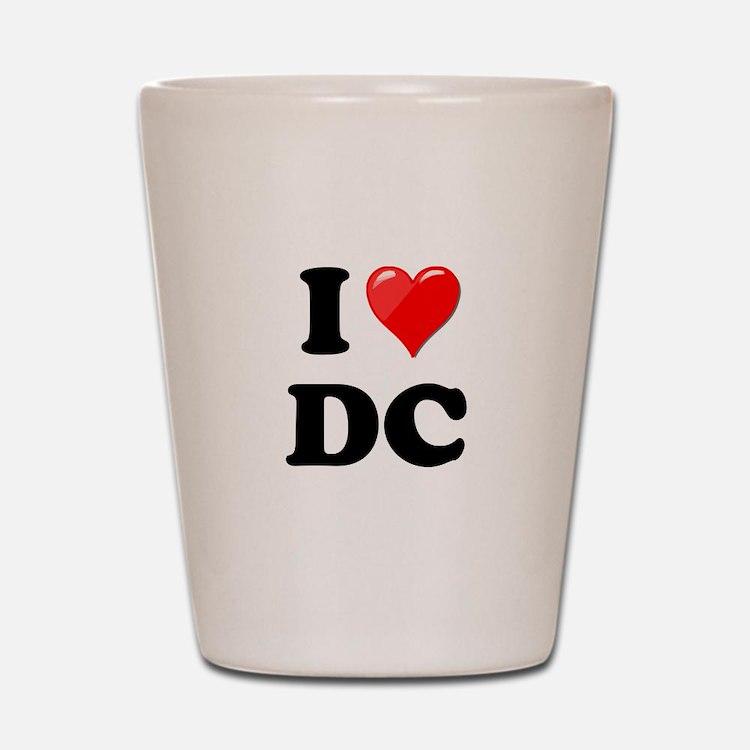 I Heart Love Washington DC - DC.png Shot Glass