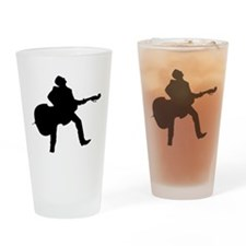 Double Bass Player Drinking Glass