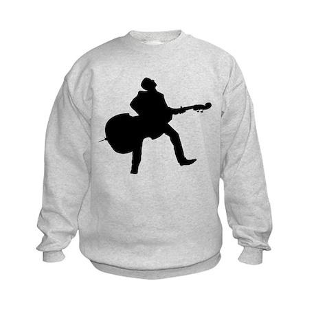 Double Bass Player Kids Sweatshirt